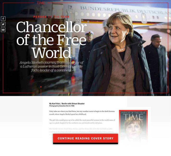 Why TIME ChoseAngela Merkelas Person of the Year 2015 | FUTURISTIC LEADERSHIP | Scoop.it