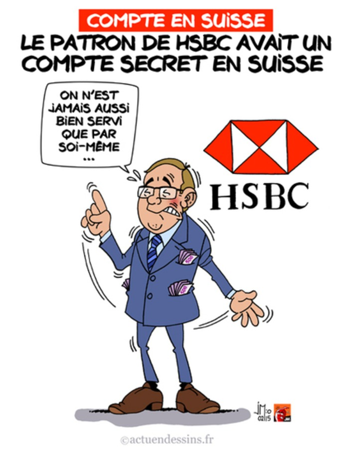 SwissLeaks : le patron de HSBC avait un compte secret en Suisse | Baie d'humour | Scoop.it