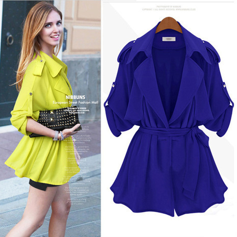 Cheap Hitz pure color belt loose comfortable long sleeve trench coat for women in women outcoat from women clothing on sightface.com | Cheap women Clothing Online at Sightface | Scoop.it