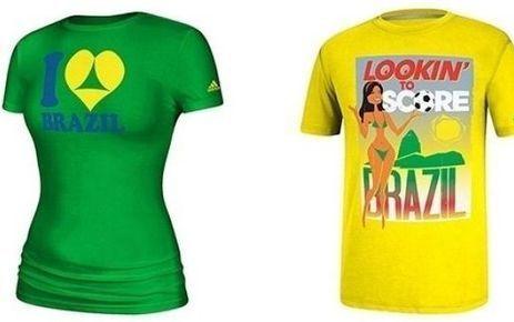 Mondial 2014 : des tee-shirts Adidas jugés scandaleux retirés de la vente | Le  Brésil : des inégalités qui persistent et qui  freinent l'essor d'une BRICS | Scoop.it