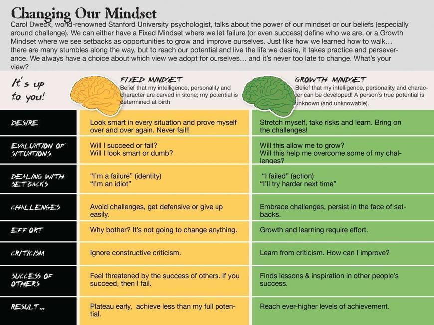 New Interesting Chart on Growth Vs Fixed Mindsets