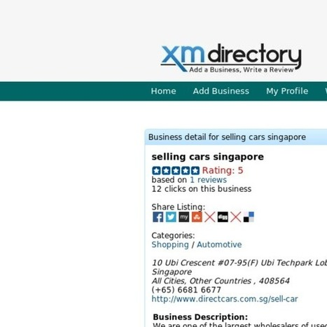 Cars with Wide Range in Auction Singapore | Used Car Dealer Singapore - Directcars | Scoop.it