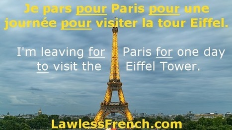 Pour - French Preposition - Learn French Grammar   French and France   Scoop.it