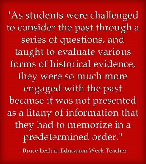 """""""Teaching History By Not Giving 'The Answers'"""" 