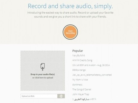 Clyp, una buena forma de compartir archivos de audio | Escuela y Web 2.0. | Scoop.it