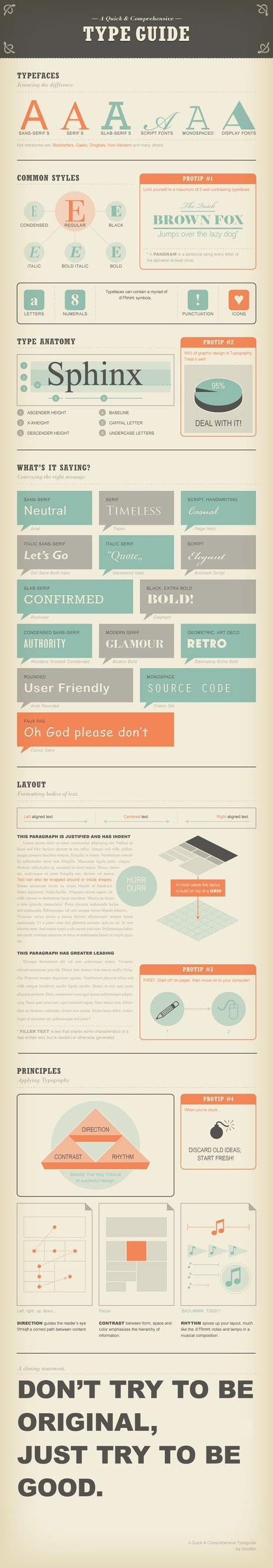 A guide to typography (Infographic) | check it out! | Time to Learn | Scoop.it