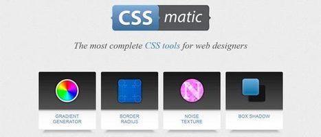 Réduisez le temps de création de vos pages avec le générateur d'effets graphiques CSSmatic « crea.sit.web – le.blog ! | Webdesign, ressources et tendances. | Scoop.it
