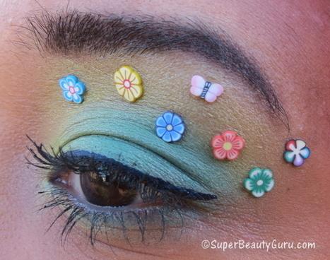 Floral Easter / Spring Makeup Tutorial Using Fimo (Crazy Makeup) - Super Beauty Guru | The Super Beauty Guru | Scoop.it