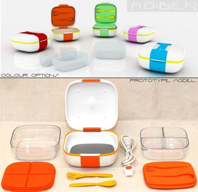 Mo:Ben. Stylish, Self-Heating Lunchbox   Bento Lunch Box   Scoop.it
