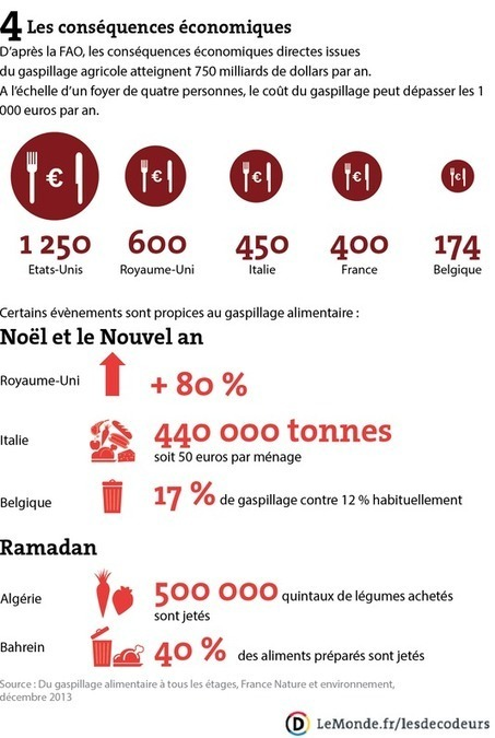 Chaque année, 1,3milliard de tonnes de nourriture gaspillée - un phénomène mondial en infographie | Enseigner l'Histoire-Géographie | Scoop.it