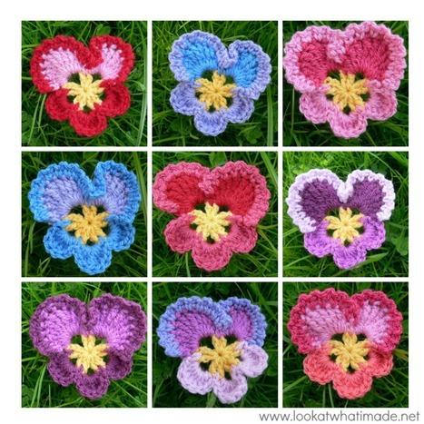 Granny's Crochet Pansy | Crochet | Scoop.it