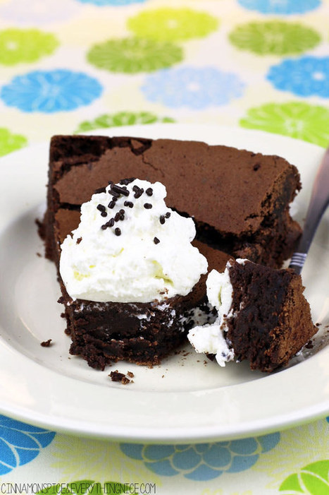Flourless Chocolate Brownie Cake   My Culinary Passions   Scoop.it