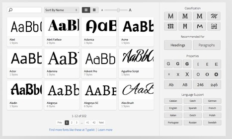 Adobe® Edge Web Fonts | UX Design | Scoop.it