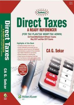 Padhuka's Direct Taxes- A Ready Referencer (for May 2016 & Nov 2016) (CA Final) | Accounting Books - Law, Lega and Taxation Books | Scoop.it