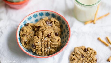 Chocolate-Pretzel Peanut Butter Cookies (vegan) | My Vegan recipes | Scoop.it