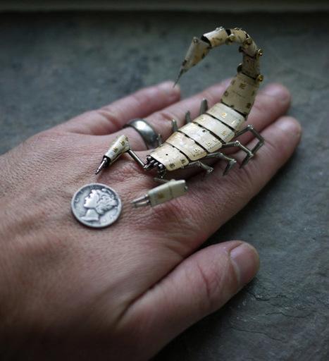Artista constrói minúsculos insetos mecânicos com peças de relógio | Paraliteraturas + Pessoa, Borges e Lovecraft | Scoop.it