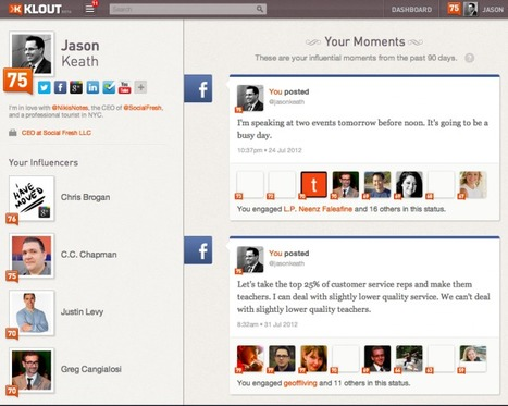 Have you seen the new Klout.com? | MarketingHits | Scoop.it