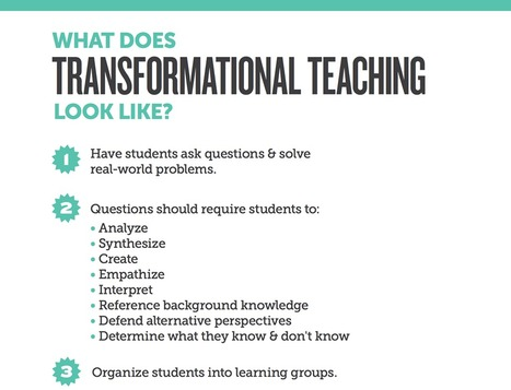 4 Big Things Transformational Teachers Do | Edutopia | 21st Century TESOL Resources | Scoop.it
