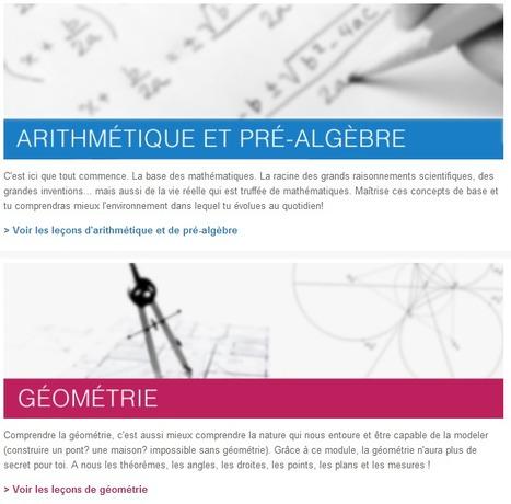 Cours de maths gratuits en vidéo en ligne – Kha...   Mathématiques   Scoop.it