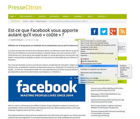 Copier des images et des documents du web vers Dropbox ou ... - Presse-citron | Outils gratuits pour entrepreneurs | Scoop.it