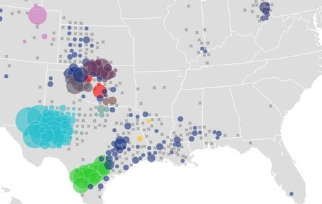 Watch Five Years of Oil Drilling Collapse in Seconds | DataViz | Scoop.it