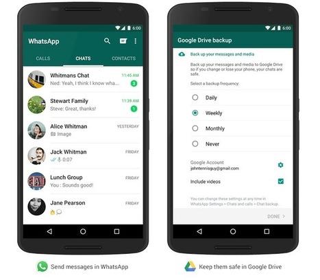 WhatsApp ganha integração com o Google Drive para backup de fotos e vídeos | Linguagem Virtual | Scoop.it