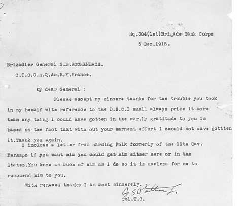 Primary Source 3: Thank you letter. | General George Patton | Scoop.it