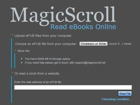 Magic Scroll, pour lire des fichiers epub depuis n'importe quel navigateur | ACTU DES EBOOKS | Scoop.it