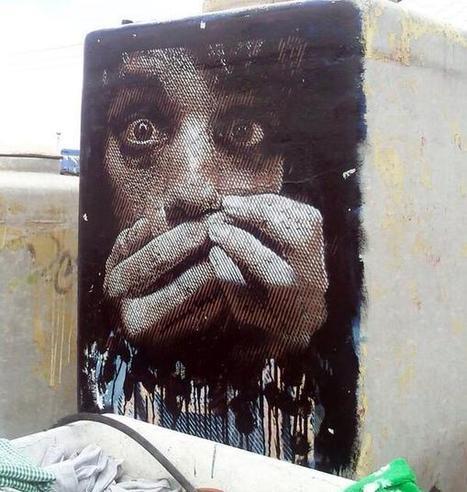 Street Art Stencil by 'Ades Cruz' in Mexico  @GoogleStreetArt | ILLUSTRATION-STREET ART-DIGITAL ART-GRAPHISME-AND MORE... | Scoop.it