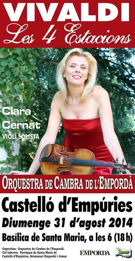 CLARA CERNAT en tournée avec l'Orchestre de chambre de l'Ampurda. | FOLLE de MUSIQUE | Scoop.it