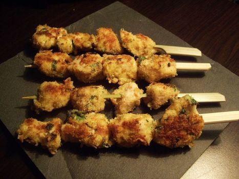 Petites brochettes de poulet au Parmesan | The Voice of Cheese | Scoop.it