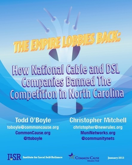 The Empire Lobbies Back: How Big Cable Killed Competition in North Carolina | Municipal Broadband | Scoop.it