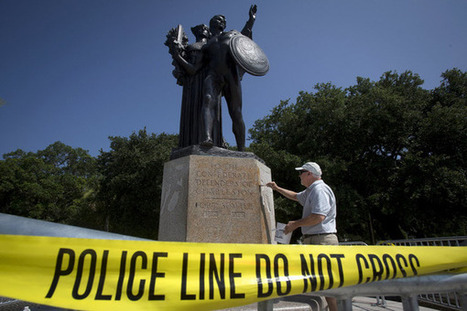 Confederate memorials splashed with 'Black Lives Matter' slogan | AUSTERITY & OPPRESSION SUPPORTERS  VS THE PROGRESSION Of The REST OF US | Scoop.it