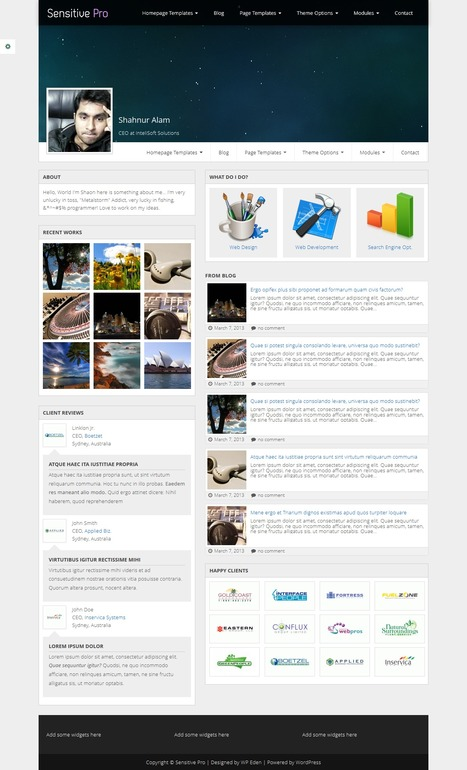Sensitive Pro - Responsive Multipurpose WordPress Theme - WP Eden | WordPress | Scoop.it