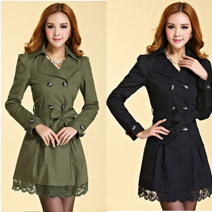 Cheap 2013 Korean double-breasted Slim thin woolen trench coat jacket with lace in women outcoat from women clothing on sightface.com | Cheap women Clothing Online at Sightface | Scoop.it