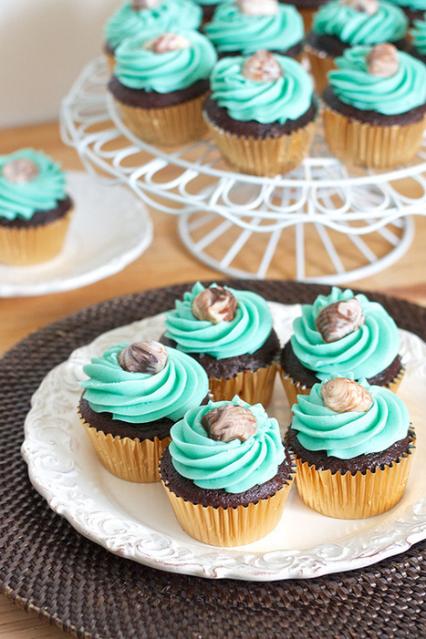 Erica's Sweet Tooth » Chocolate Cupcakes with Whipped Vanilla ... | Just Chocolate!!! | Scoop.it