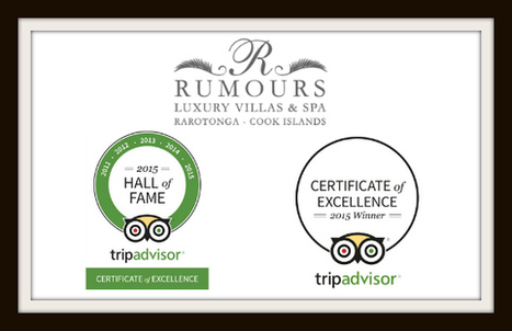 Rumours Luxury Villas Rarotonga In TripAdvisor Hall of Fame | Romantic Tropical Vacations Cook Islands | Scoop.it