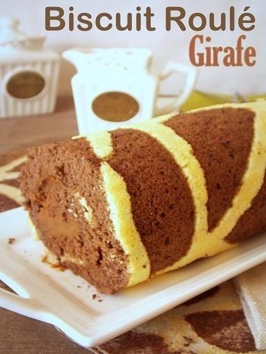Gâteau roulé au chocolat (imprimé girafe) | Le Blog de Samar | Recettes de fetes | Scoop.it