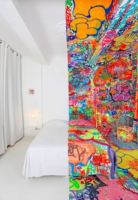 This is What Happened When a Hotel Room Was Covered in Graffiti | Furniture Design | Scoop.it