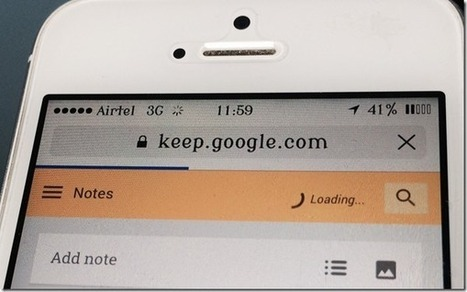 3 Useful Ways to Access Google Keep on iPhone and iPad | notetaking workflow | Scoop.it