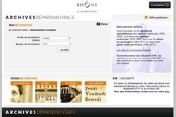 Rhône : les registres matricules en ligne de 1888 à 1921 | Rhit Genealogie | Scoop.it