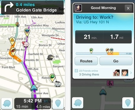 Mobile Map Wars: Google's Inroads For Waze Could Roadblock Facebook And Apple #socialmaps | Mobile Revolution | Scoop.it
