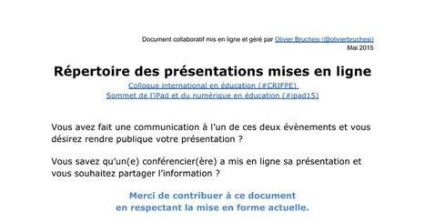 Répertoire des présentations mises en ligne (#CRIFPE, #ipad15) | Numérique & pédagogie | Scoop.it