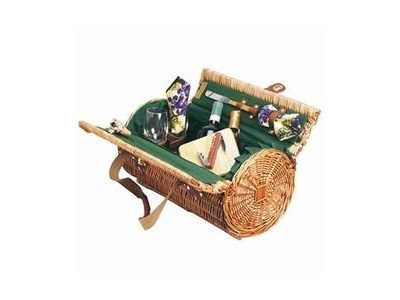 Two-lid willow Picnic Basket with Wine & Cheese service for 2 | Cook Tools | Scoop.it