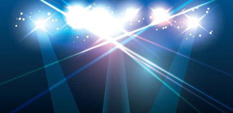 Luces de Escenario Azules | Vectores Gratis | R...