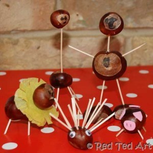 Red Ted Art's Blog » Blog Archive » Kids Get Crafty: Chestnut Crafts (Pencil Toppers) | Trabalhos Manuais no Jardim de Infância | Scoop.it