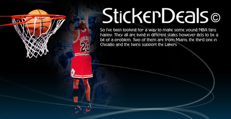 Need Gift Items For NBA Fans But Not Too Costly – Get Them Static Clings | Sticker Deals Blog | StickerDeals | Scoop.it