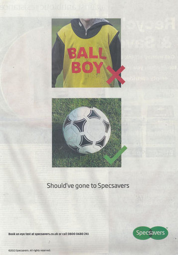 Specsavers runs tongue-in-cheek ad on Hazard ballboy incident - Brand Republic News | Vibe - bringing life to brands | Scoop.it