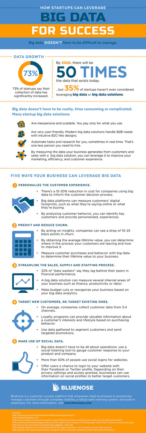 How Startups Can Leverage Big Data For Success (Infographic) | Disruptive Entrepreneurship & Innovation | Scoop.it