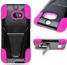 myLife Shimmering Black + Deep Pink Tough Design Two Piece Neo Hybrid (Shockproof Kickstand) Case for the All-New HTC One M8 Android Smartphone - AKA, 2nd Gen HTC One (External Hard Fit Armor With ... | Bean bag Chair | Scoop.it